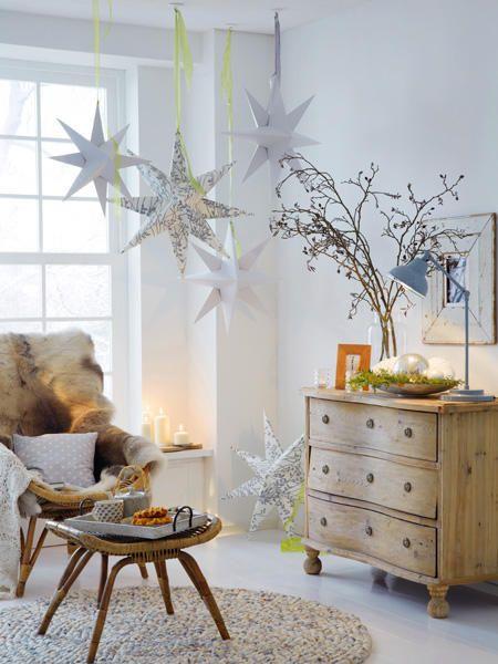 Anleitung für Papiersterne Papiersterne, Anleitungen und Weihnachten - weihnachtswanddeko basteln