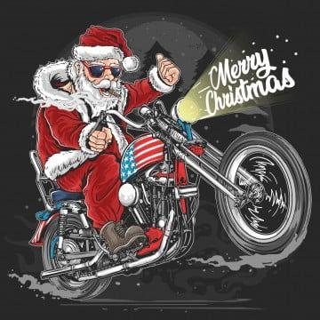 Motorcycle Rides Christmas Day 2020 Santa claus christmas usa america tour biker motorcycle motorbike
