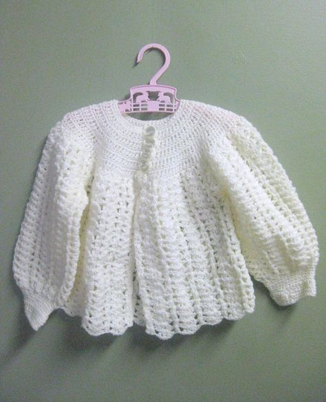 20cb9eb38ec6 Vintage White KNIT SWEATER   Size 1T-2T Baby Toddler by curiouskitty ...
