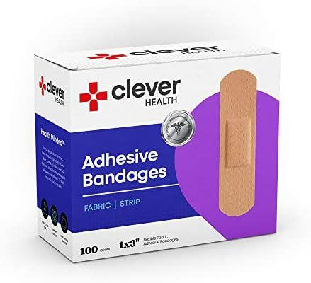 Amazon Com Flexible Fabric Adhesive Bandages 1 X 3 With Absorbent Non Stick Pad For Wound Care And First Aid All One Size Wound Care Adhesive Absorbent