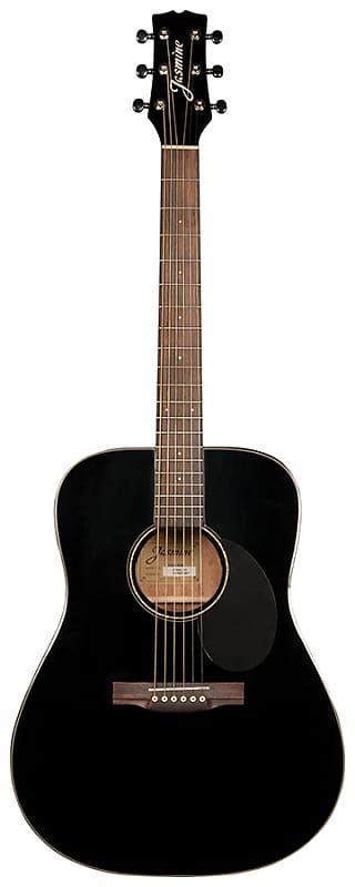 Jasmine Jd39 Blk Dreadnought Black Reverb Guitar Acoustic Guitar Acoustic