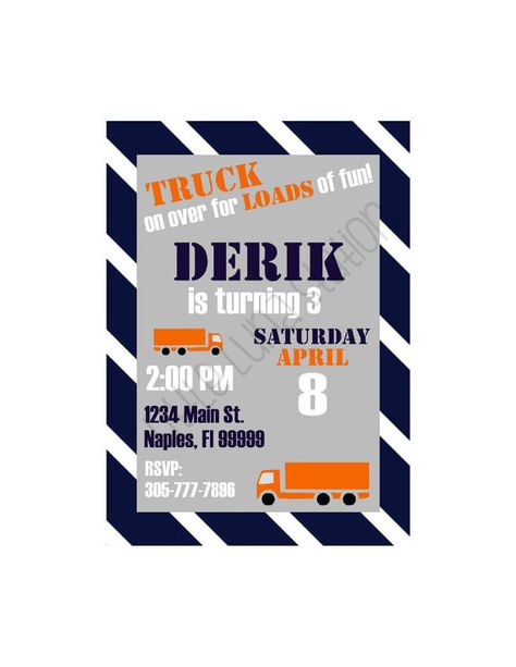 List Of Pinterest Sxemi Truck Birthday Party Invitations Pictures