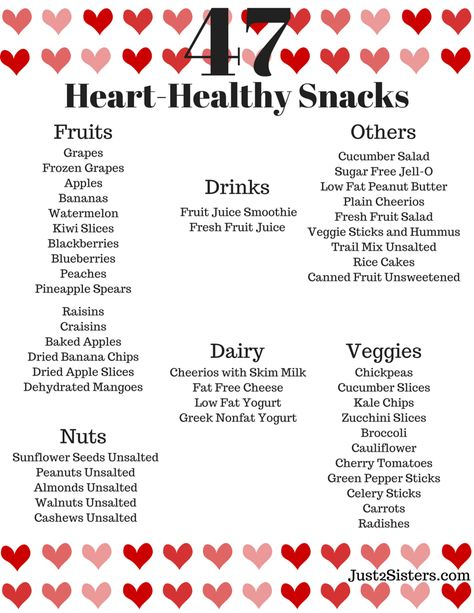 Looking for ways to live a healthier lifestyle? Print our list of 47 heart-healthy snack ideas to keep you on the right track.
