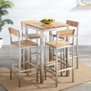 Teak Bar Table Set | http://freshslots.info | Pinterest