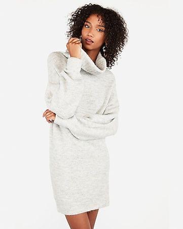 Ribbed Cowl Neck Mini Shift Sweater Dress Sweater Dress Sweater Dress Women Bodycon Sweater Dress