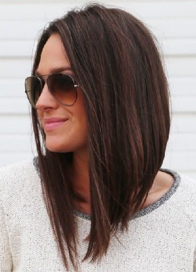 Haircuts For Thin Hair Long Bob Hairstyles Angled Bob Hairstyles Long Bob Haircuts