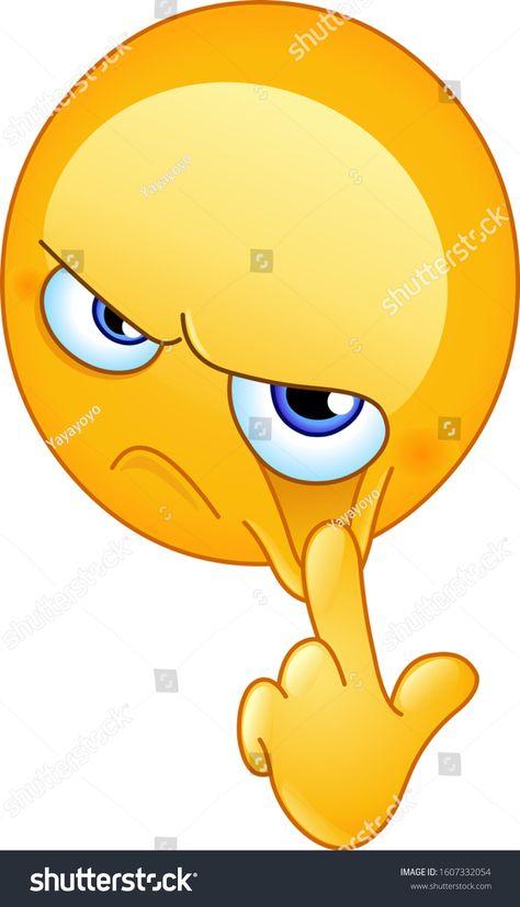Стоковая векторная графика «Emoji Emoticon Pulling His Finger One» (без лицензионных платежей), 1607332054