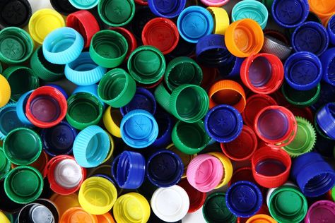 Recycled Plastic Bottle Caps Stock Photo (Edit Now) 104014736