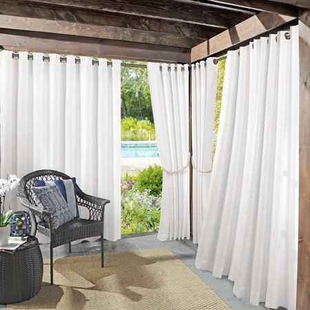 Sun Zero Indoor Outdoor Woven Solid Window Curtain In 2020