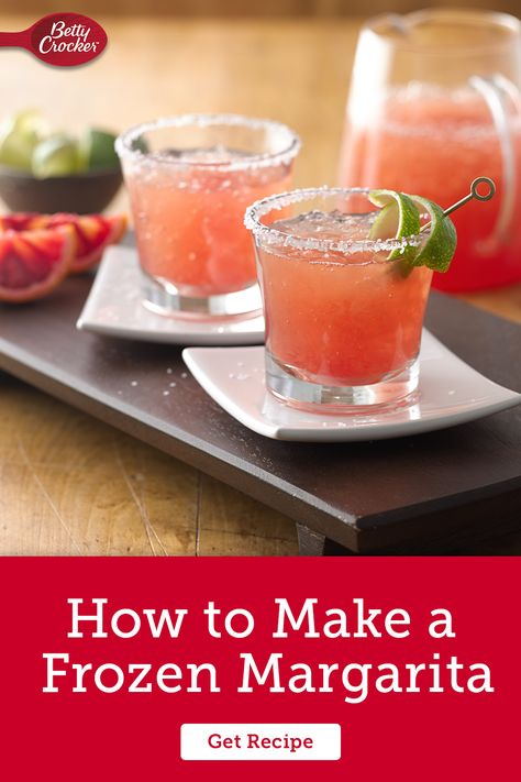 Learn How to Make a Frozen Margarita for an adult-friendly, fun alcoholic drink. Pin today for refreshing summer cocktails.