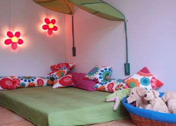textil deco Krippen-Schlafraum | KiTa | Pinterest | Kita ... | {Kuschelecke kinderzimmer gestalten 87}