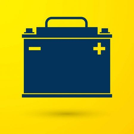 Blue Car Battery Icon Isolated On Yellow Background Accumulator Battery Energy Sponsored Battery Icon Blue Car A Battery Icon Car Battery Blue Car