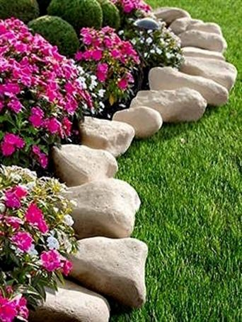 Landscape Edging Stone, How To Make Stone Garden Edging