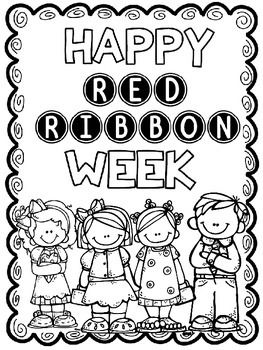 red ribbon week coloring pages # 5