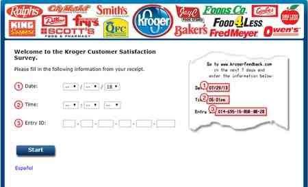 Kroger Feedback Customer Satisfaction Survey Kroger Customer