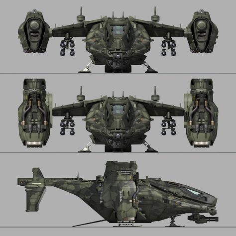 SF Heavy Military Dropship aircraft military, formats include MAX, OBJ, FBX, ready for animation and other projects Flying Vehicles, Army Vehicles, Armored Vehicles, Cyberpunk, Spaceship Art, Spaceship Design, Futuristic Armour, Futuristic Art, Concept Ships