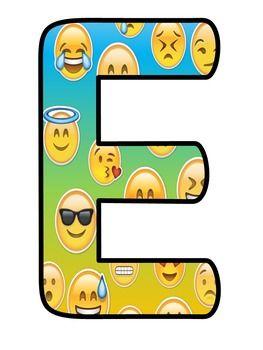 Bienvenidos Letras Emoji Emoticons Emojis Atividades Ideias