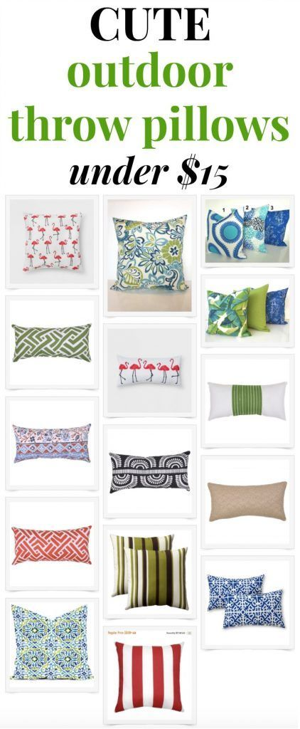 affordable outdoor throw pillows