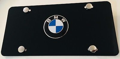 Bmw License Plate 3d Custom Bmw On Black License Plate Bmw