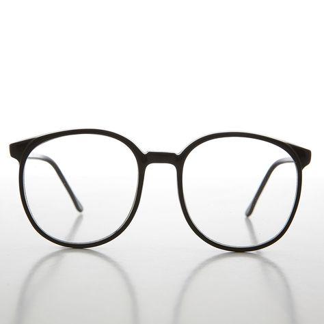066a386214 80s Oversized Secretary Round Preppy Schoolboy Eyeglasses- Blair ...