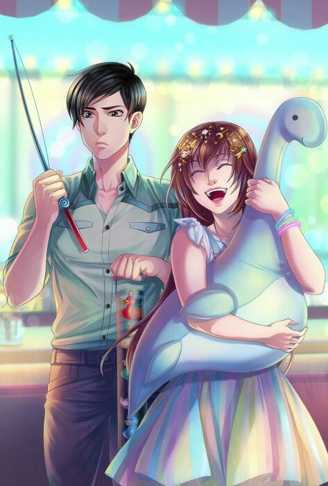 Imagem Ep 15 Amor Doce Anime Love Couple Illustration