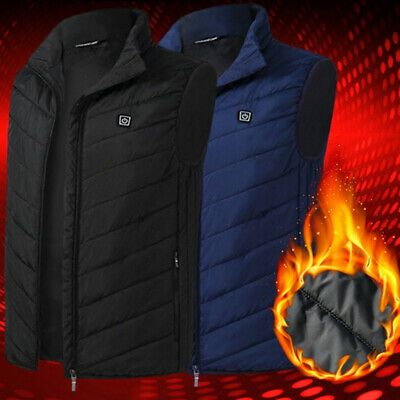 USB Electric Heated Warm Vest Men Women Winter Rechargeable Heating Coat Jacket