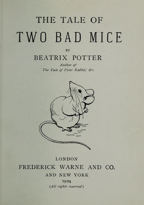 The Project Gutenberg eBook of The Tale of Two Bad Mice, by ... | 673x474