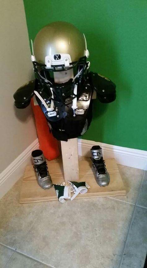 Football Gear Storage DYI