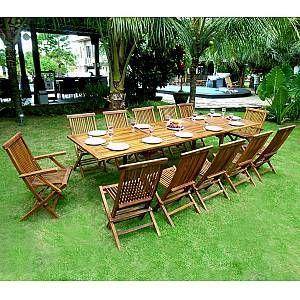 Salon De Jardin En Teck Huile X12 Borneo En 2020 Teck Salon De Jardin Teck Et Chaise Teck