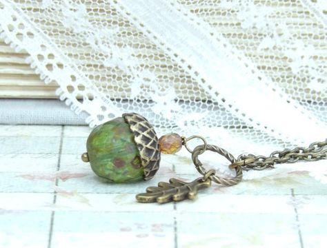 Collier gland collier automne bijoux automne collier gland bijoux automne…