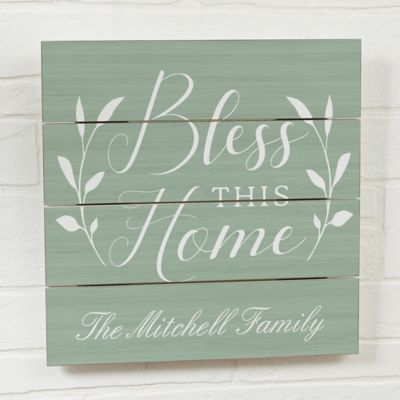 Bless This House Wooden Wall Slat Sign Rustic Wooden Sign Wood Doors Interior Wooden Signs
