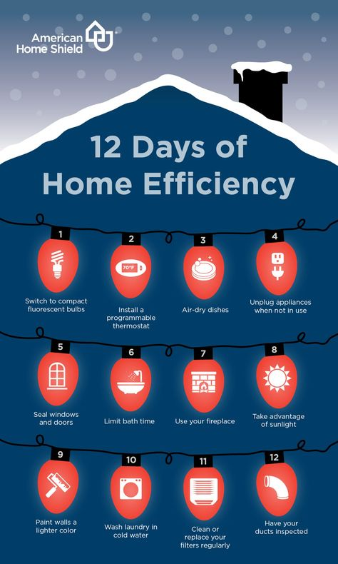 Infographic: 12 Days to a More Energy-Efficient Home   AHS