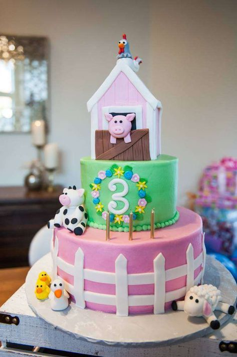 Phenomenal Petting Zoo Farm Themed Birthday Party Ideas Farm Birthday Cakes Funny Birthday Cards Online Sheoxdamsfinfo