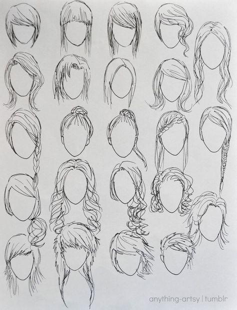 Anime Frisur Zeichnung Tutorial Anime Frisuren Frisuren Zeichnen
