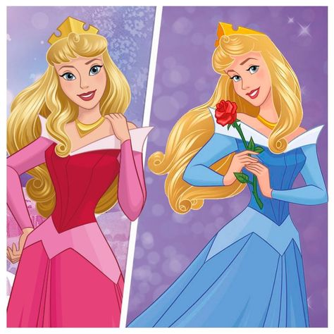 """Ultimate Princess Celebration on Instagram: """"Pink or Blue?  Which one do you prefer? 💖 or 💙 ?  #Aurora #SleepingBeauty"""""""