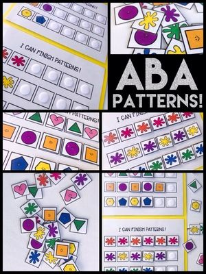 Aba Patterns From Ms Robertsresources On Teachersnotebook Com 11