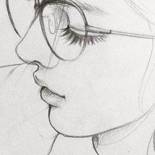 #Art #draw #drawing #everyday #girl #Line #pencil