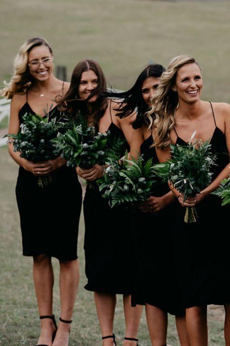 Lush greenery bridesmaid bouquets
