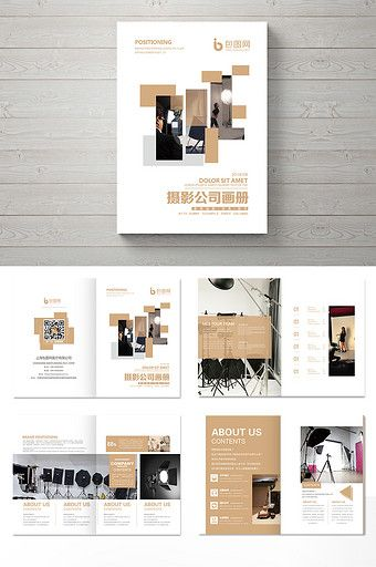Simple photography company Brochure design#pikbest#templates