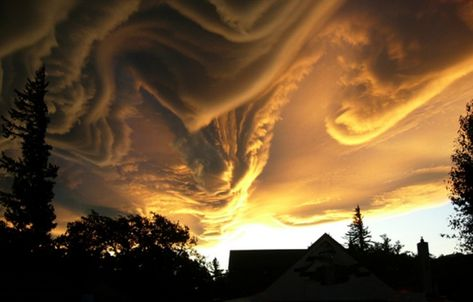 """Stunning but undefined. This cloud formation is about to get a name """"Asperatus"""". In that case it it would be the first variety of cloud formation to be given a new label in over half a century."""