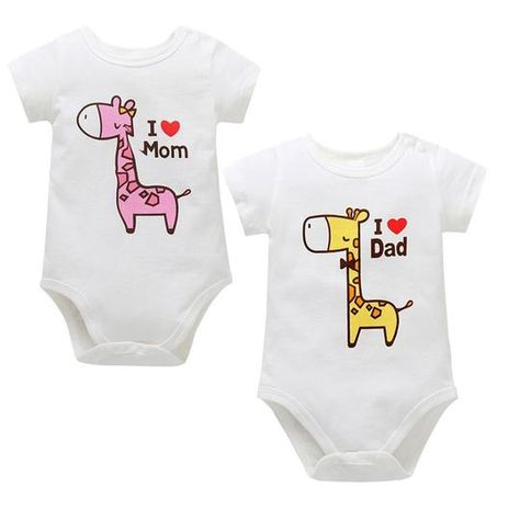 Summer Newborn Infant Baby Boy Girl Cartoon Print Romper Jumpsuit Outfit Clothes