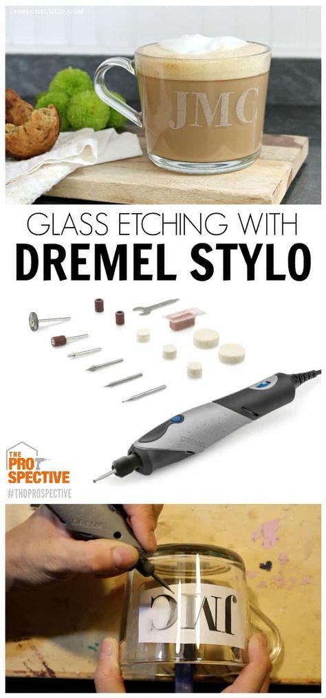Glass Etching with the Dremel Stylo - Jaime Costiglio Dremel 3000, Dremel Werkzeugprojekte, Dremel Bits, Dremel Wood Carving, Dremel Rotary Tool, Dremel Engraver, Sculpture Dremel, Dremel Tool Projects, Dremel Ideas
