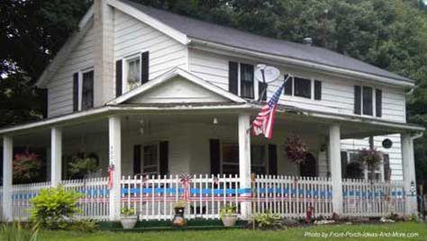 Farm House Porches House With Porch Building A Porch Roof Structure
