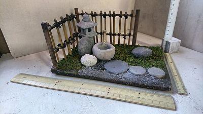 紙粘土でつくるミニチュア 1 12 和風庭園 20190122 Zen Garden Garden