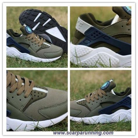 Eleganti Nike Air Huarache Sneakers Bianco Nero Uomo Online