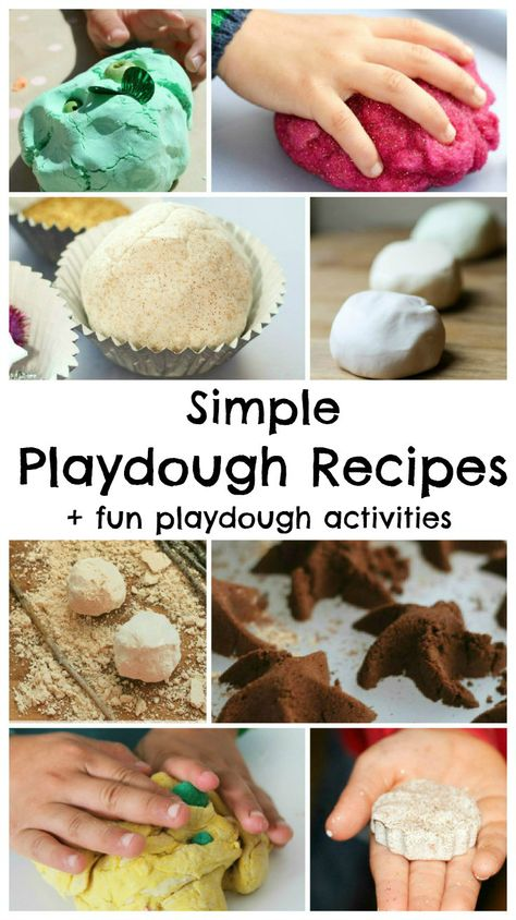 Collection of simple playdough recipes