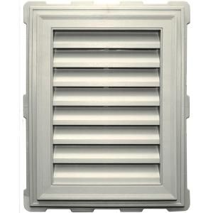 Builders Edge 20 2 In X 26 2 In Rectangular Beige Bisque Plastic Uv Resistant Gable Louver Vent 120071824034 The Home Depot Gable Vents Builders Edge Brick Molding
