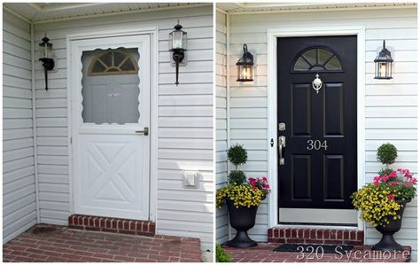 get rid of those storm doors.  easy transition to elegance.