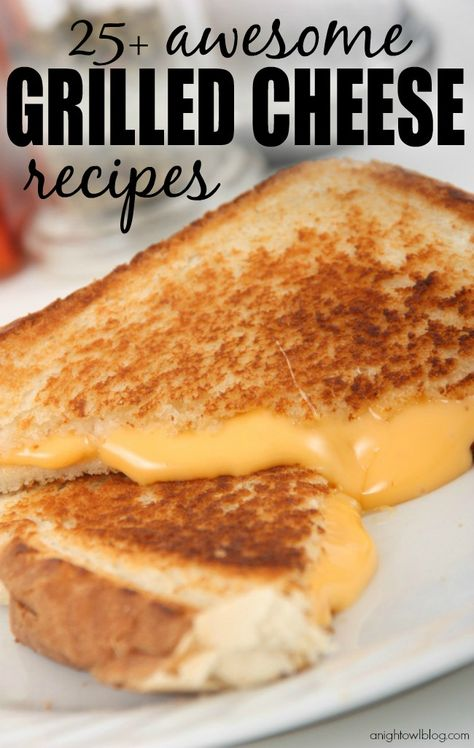 The most awesome round up of Grilled Cheese Recipes around! YUM!