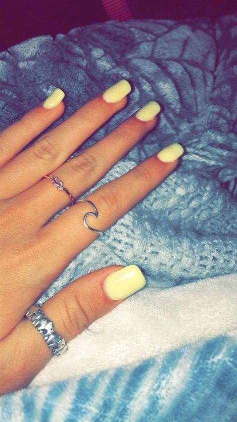 Yellow nails✨ #beautifulacrylicnails…
